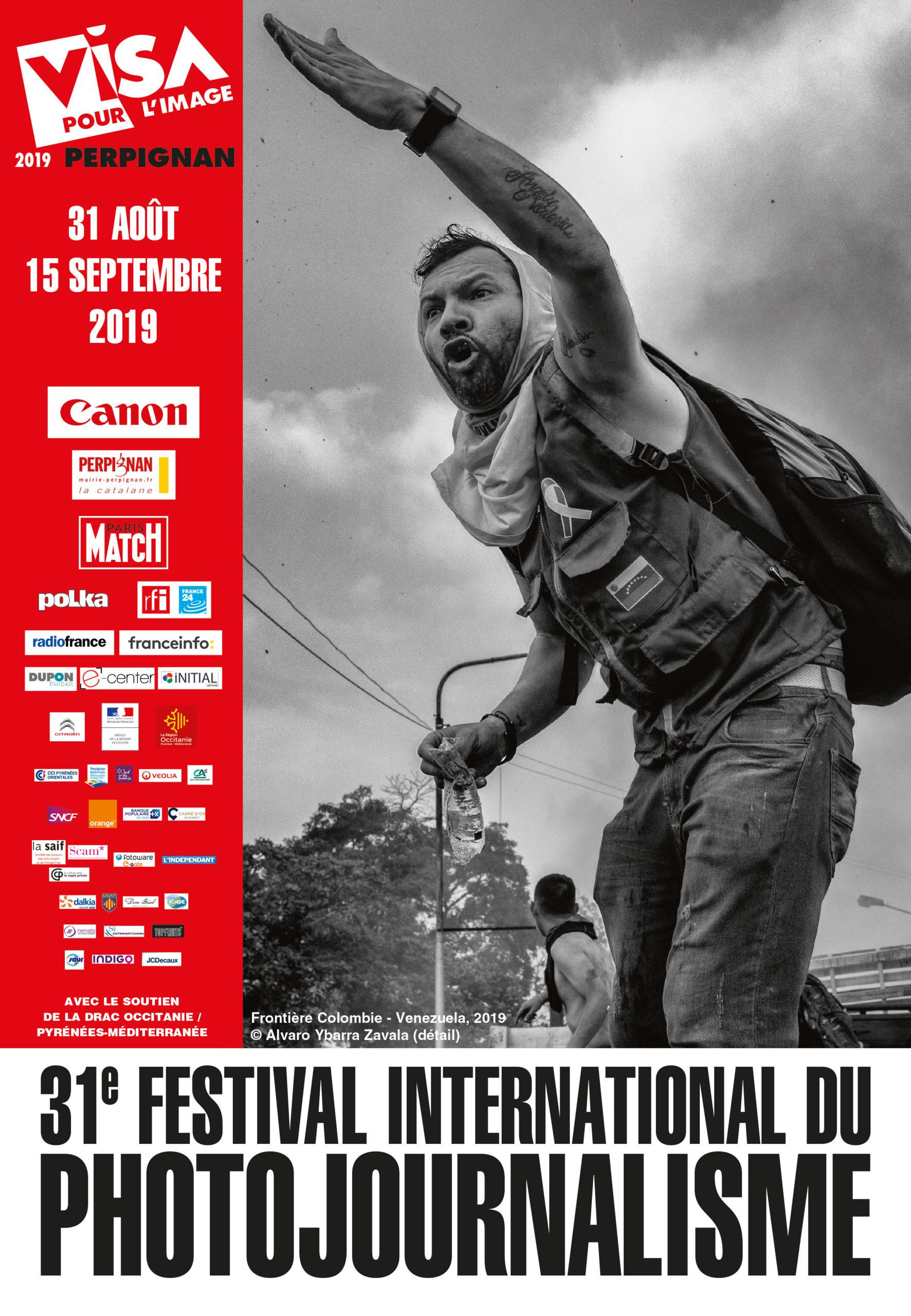 Affiche du festival international du photojournalisme, Visa pour l'image à Perpignan