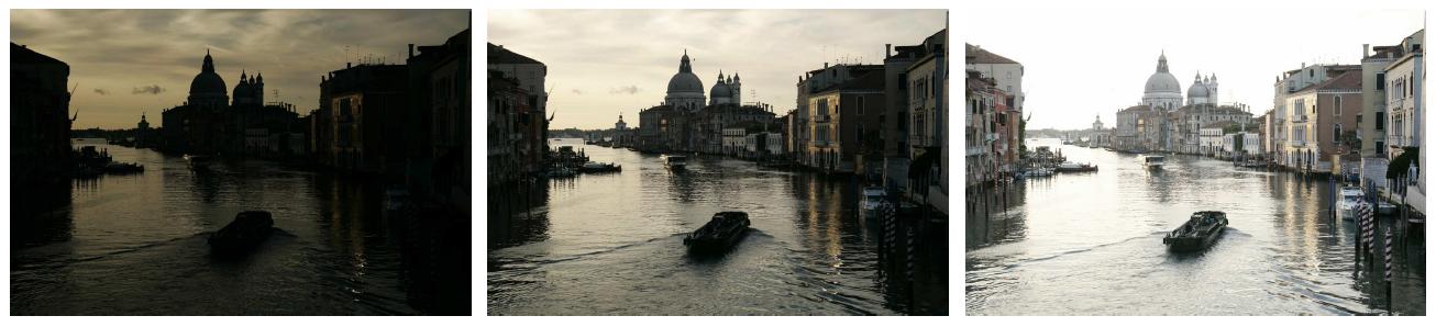Venezia_Exposure bracketed sequence