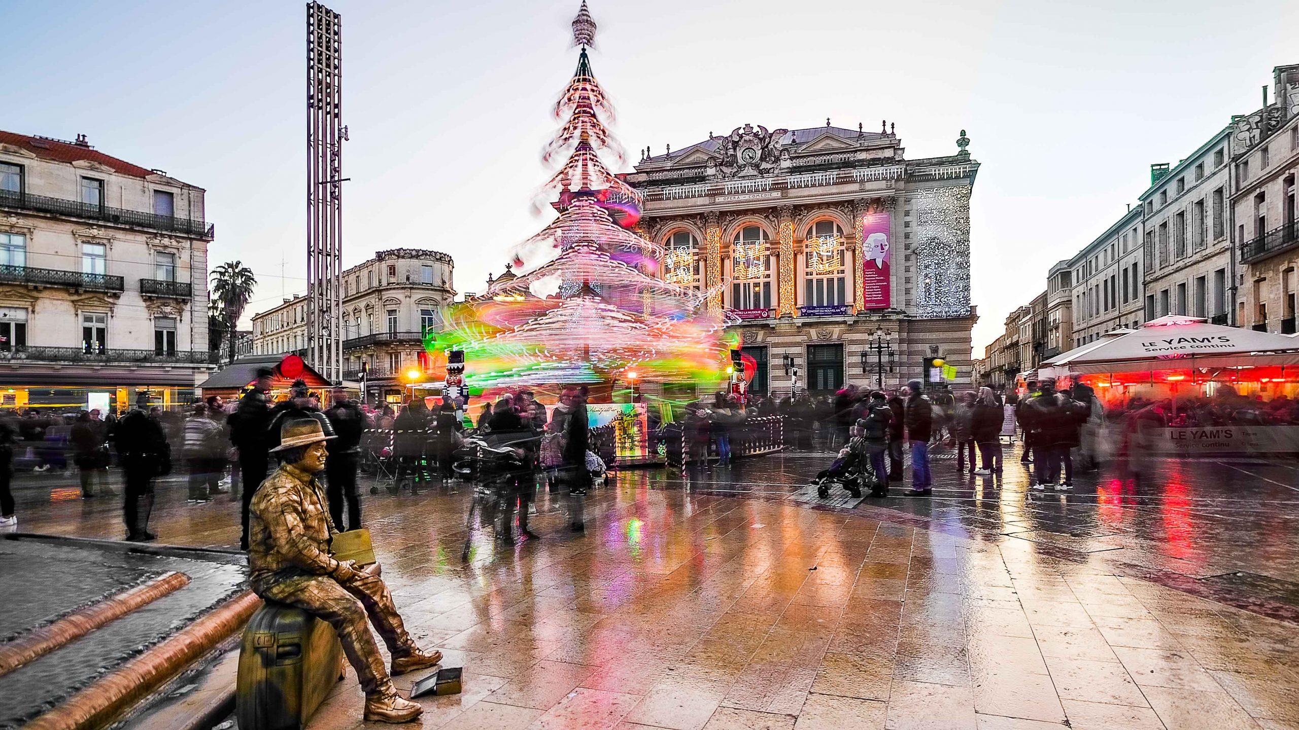 Photograph of a place de la Comédie processed with HDRinstant