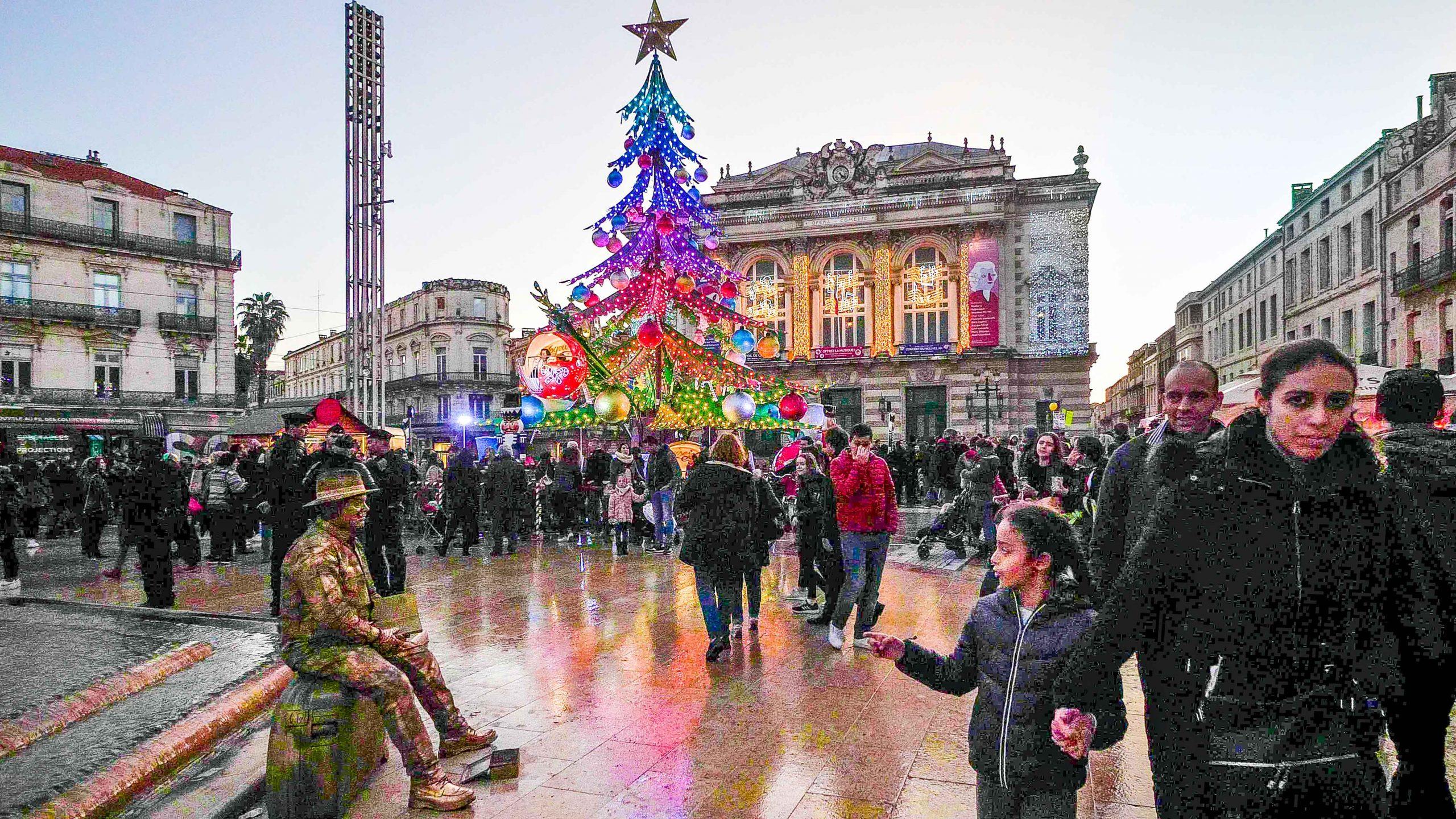 Foto der Place de la Comédie nicht mit HDRinstant bearbeitet